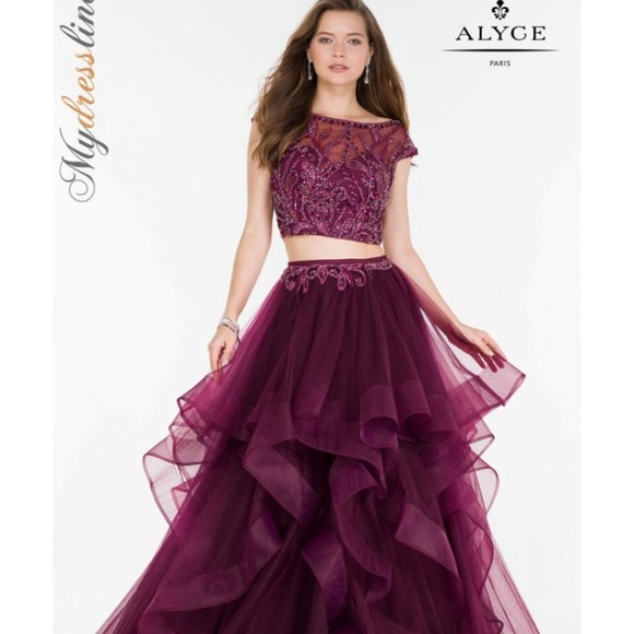 c47917f41b296 Alyce Paris Dresses & Skirts - Alyce Paris prom dress Size 0 Plum color w  beading